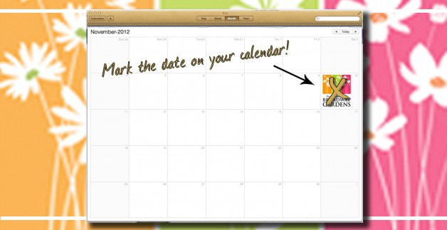 Don't forget to mark November 10th on your calendar!