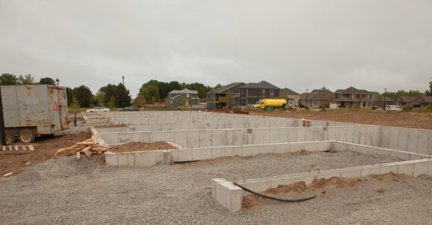 Our most recent block at Trillium Gardens Condominiums has begun!